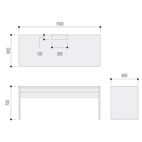 ファルテ�U FALTE�U ワイヤリングデスク1500 8CAE5D-MQ81 8CAE5D-MQ82 8CAE5D-MS95