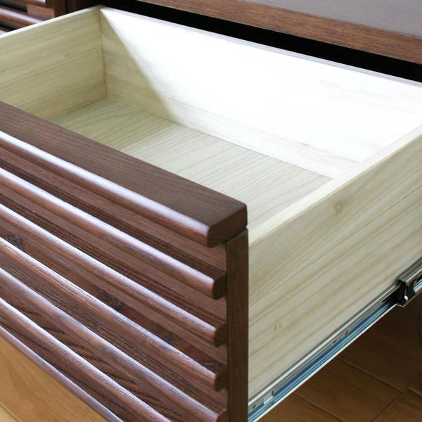 格子デザインの120サイドボード