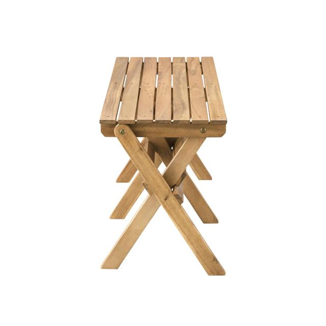 折りたたみ可能で便利!味わい深い天然木が美しいベンチ NX-525 フォールディングベンチ 東谷