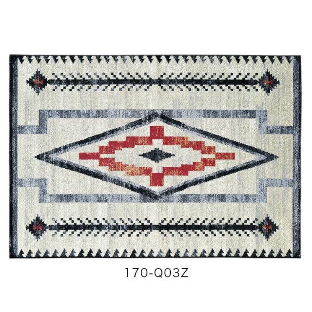 UV加工を施したエジプト製のおしゃれなマット 玄関マット Batik バティック 50×80cm モリヨシ シュエット CHOUETTE (ホットカーペット対応&手洗いOK&UV加工)