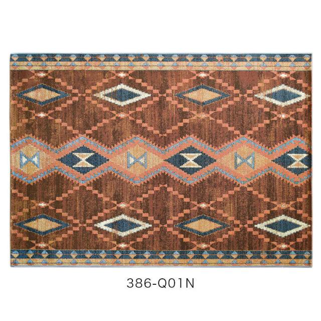 UV加工を施したエジプト製のおしゃれなマット キッチンマット Batik バティック 50×120cm モリヨシ シュエット CHOUETTE (ホットカーペット対応&手洗いOK&UV加工)