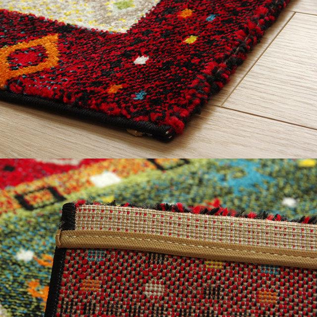 おしゃれなギャベ柄ウィルトン織ラグ 80×140cm