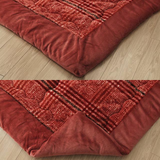 シンプルなチェック柄がかわいい!ふんわりやわらかなチェック柄こたつ掛け布団 単品 240×240cm 正方形