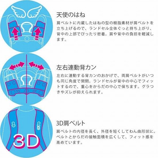 天使のはね 左右連動背カン 3D肩ベルト