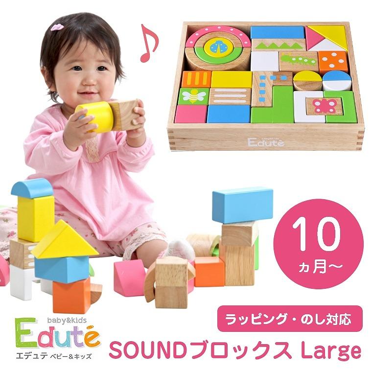 10ヶ月から遊べる 音が鳴る積み木シリーズ SOUNDブロックス Large LA-008 エデュテ Edute