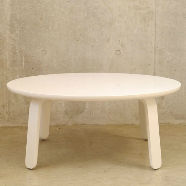 光沢感のある丸いリビングテーブル TORT トルト 幅85cm