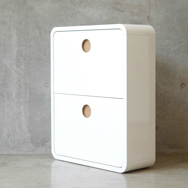 真っ白ボディと丸みを帯びたデザインが可愛い CERC SHOES BOX セルク シューズボックス ガルト GART