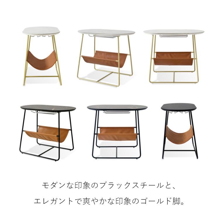 質感から感じる「高級感」。大理石風の天板が特徴的なサイドテーブル。 ノーゼン サイドテーブル ガルト