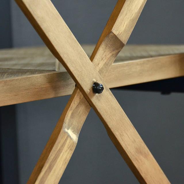 古材風のパイン材とアイアンパイプがおしゃれな収納ラック KALEIDO カレイド 4段ラック 幅60cm