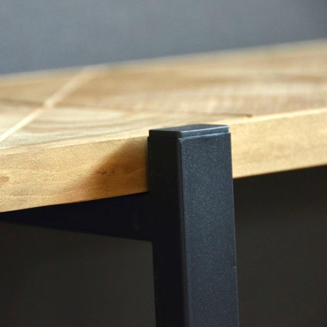 古材風のパイン材とアイアンパイプがおしゃれな収納ラック KALEIDO カレイド 5段ラック 幅60cm
