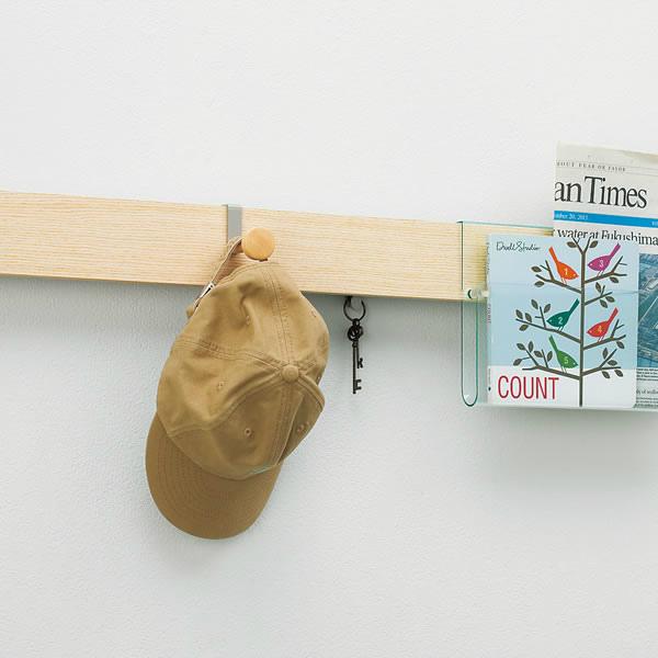 ウォールラック(壁面収納) 長押ラック用 帽子フック オリジン