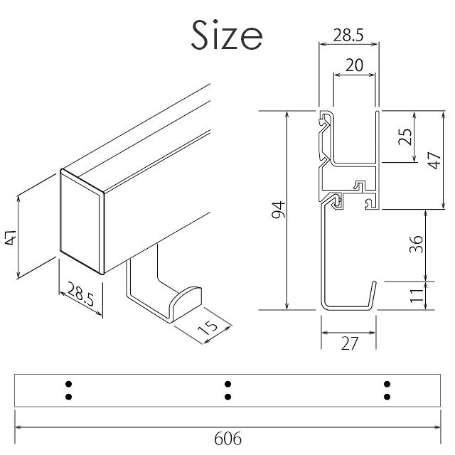 600mm ZM-169 ZM-173 サイズ