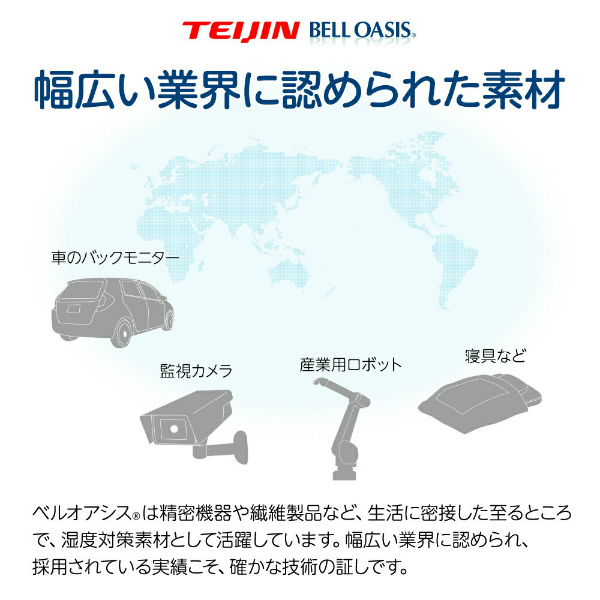 テイジン ベルオアシス使用 ジョイントドライ(除湿シート)ミニ 大小4枚セット